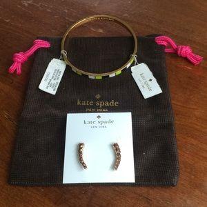 NWT Kate spade ♠️ bracelet and earrings bundle